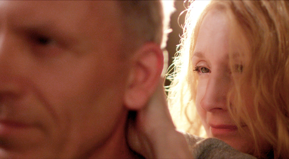 """Patricia Clarkson and Aidan Devine in """"October Gale"""""""