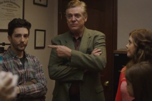 "John Magaro, Christopher McDonald and Dreama Walker in ""Don't Worry Baby"""