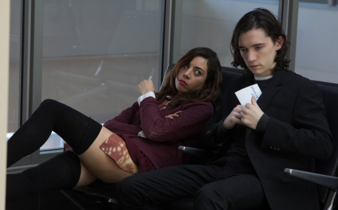 "Aubrey Plaza and Liam Aiken in ""Ned Rifle"""