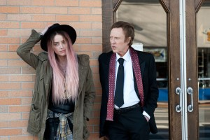"Amber Heard and Christopher Walken in ""When I Live My Life Over Again"""
