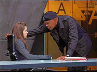 "Samuel L. Jackson and Hailee Steinfeld in ""Barely Lethal"""