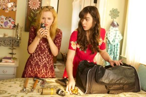 "Dove Cameron and Hailee Steinfeld in ""Barely Lethal"""