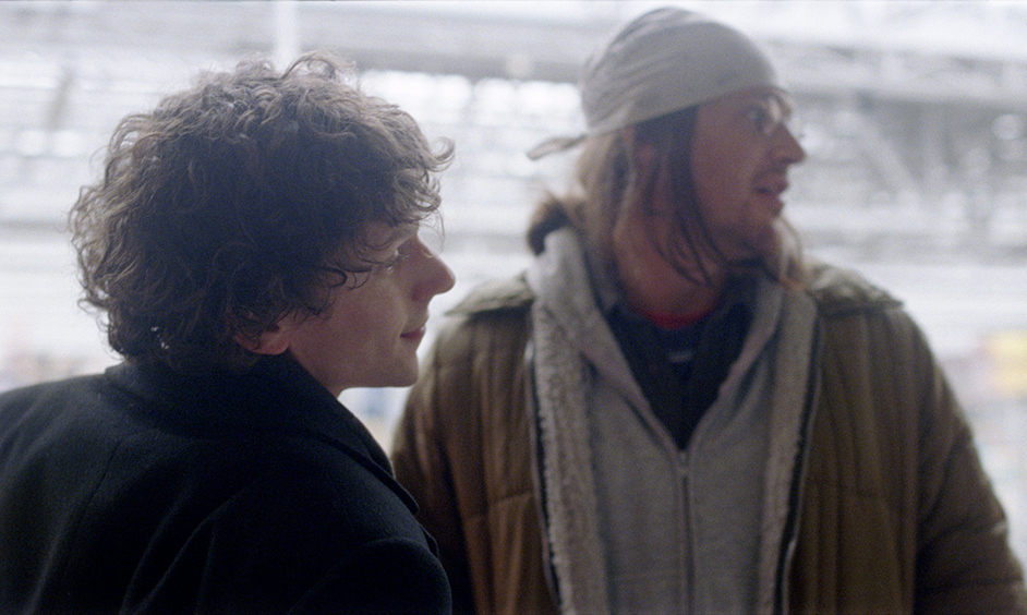 """Jesse Eisenberg and Jason Segel in """"The End of the Tour"""""""