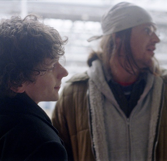 "Jesse Eisenberg and Jason Segel in ""The End of the Tour"""