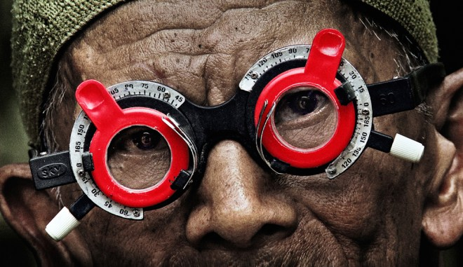 "A scene from Joshua Oppenheimer's ""The Look of Silence"""