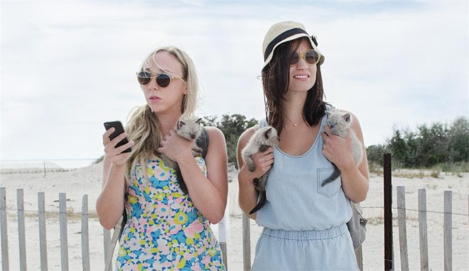 """Clare McNulty and Bridey Elliott in """"Fort Tilden"""""""