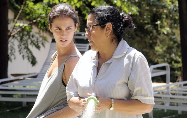 "Regina Case and Camila Mardila in ""The Second Mother"""