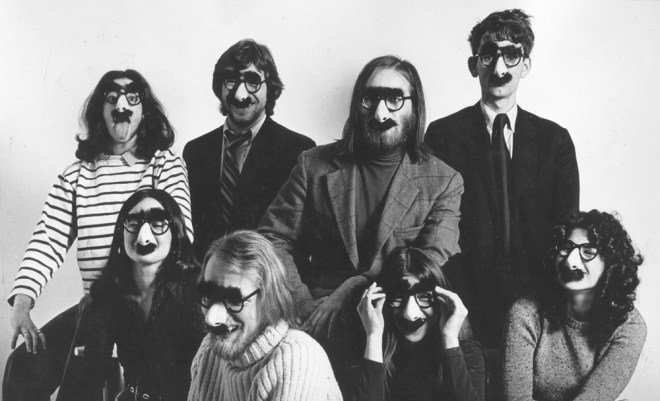 Louise Gikow, Michael Gross, Unknown, Unknown Unknown, Unknown, Doug Kenney, Henry Beard in DRUNK STONED BRILLIANT DEAD: THE STORY OF THE NATIONAL LAMPOON