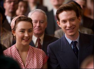 "Domhnall Gleeson and Saoirse Ronan in ""Brooklyn"""