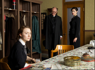 "Jim Broadbent, Jessica Pare and Saoirse Ronan in ""Brooklyn"""