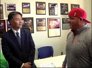 "Rep. Ted Lieu and Christopher Bell in ""Prescription Thugs"""
