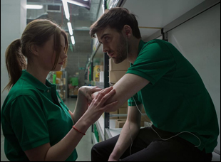 "Cian Barry and Abigail Hardingham in ""Nina Forever"""