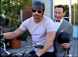 "Paul Reubens and Joe Manganiello in ""Pee Wee's Big Holiday"""