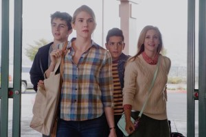 "Lily Rabe, Lili Reinhart, Timothee Chalamet, Anthony Quintal in ""Miss Stevens"""