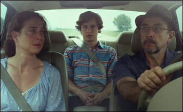 "Logan Miller, Robin Weigert and Richard Schiff in ""Take Me to the River"""