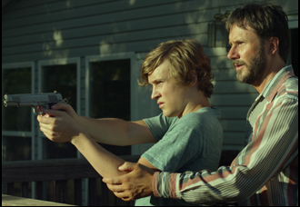 "Josh Hamilton and Logan Miller in ""Take Me to the River"""