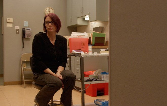 """A scene from Tracy Droz Tragos """"Abortion: Stories Women Tell"""""""