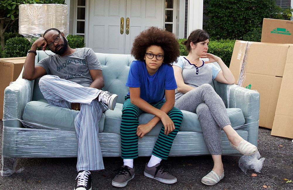 "Nelsan Ellis, Armani Jackson and Melanie Lynskey in ""Little Boxes"""