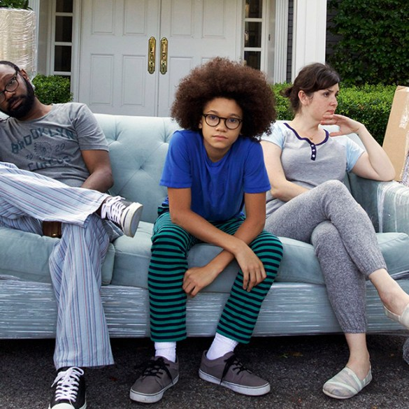 "Nelsan Ellis, Armani Jackson and Melanie Lynskey in ""Little Boxes"""