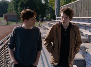 "Jesse Eisenberg and Devin Druid in ""Louder Than Bombs"""