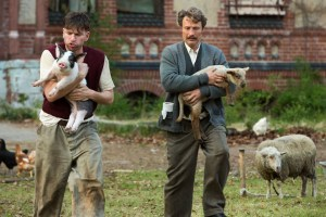 "Nikolaj Lie Kaas and Mads Mikkelsen in ""Men & Chicken"""