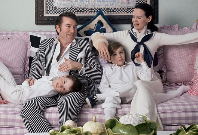 "Wyatt Cooper, Anderson Cooper, Carter Cooper and Gloria Vanderbilt in ""Nothing Left Unsaid"""