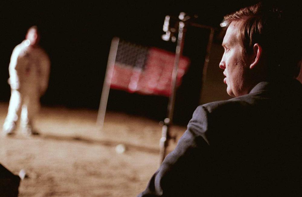"A scene from Matt Johnson's ""Operation Avalanche"""