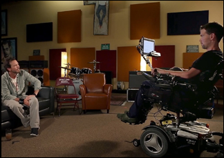 "Eddie Vedder and Steve Gleason in ""Gleason"""