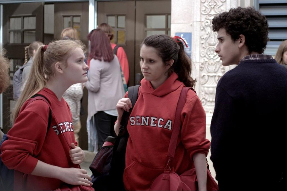 "Ben Konigsberg, Kara Hayward and Morgan Turner in ""Quitters"""