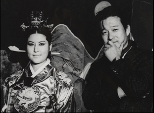 "Shin Sang-ok and Choi Eun-lee in ""The Lovers and the Despot"""