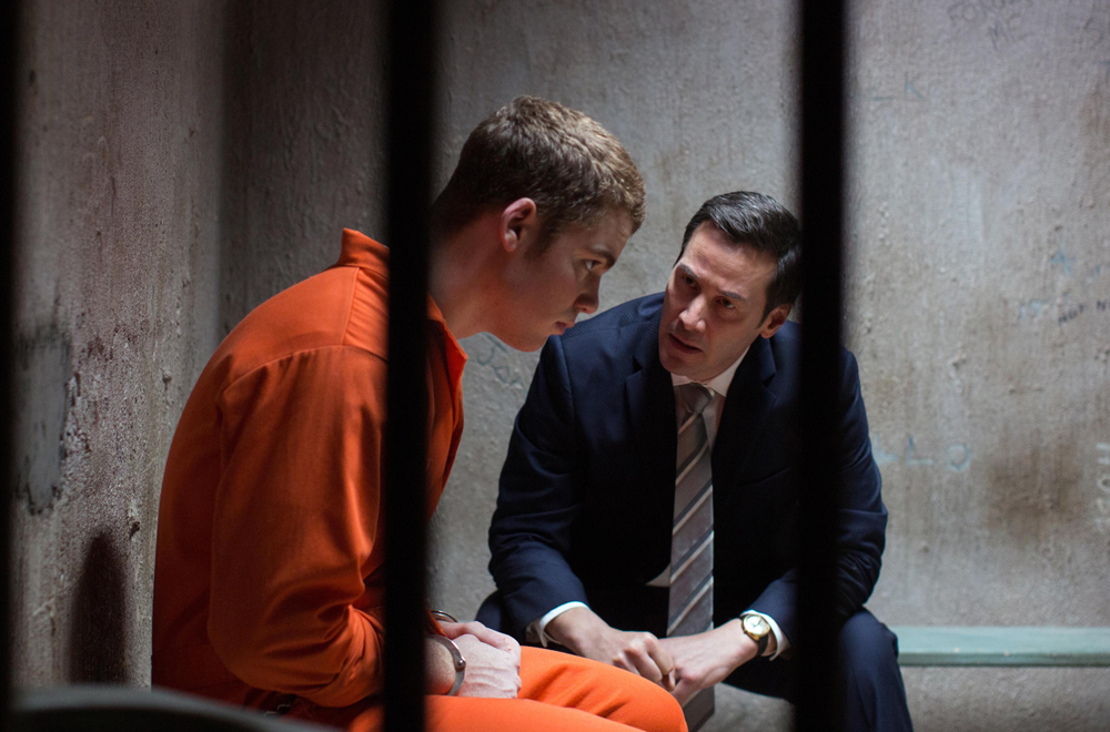 """Gabriel Basso and Keanu Reeves in """"The Whole Truth"""""""