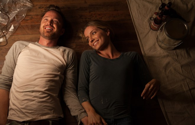 """Aaron Paul and Annabelle Wallis in """"Come and Find Me"""""""