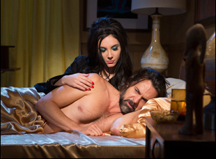 "Samantha Robinson and Jeffrey Vincent Parise in ""The Love Witch"""