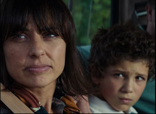 "Constance Zimmer and Nico Christou in ""Run the Tide"""