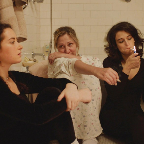 """Abby Quinn, Edie Falco and Jenny Slate in """"Landline"""""""