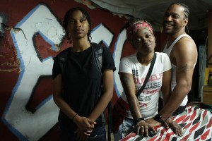 "Patricia PJ Rainey, Christine'a Rainey and Chris Quest Rainey in ""Quest"""