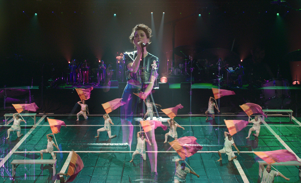 """St. Vincent in a scene from """"Contemporary Color"""""""