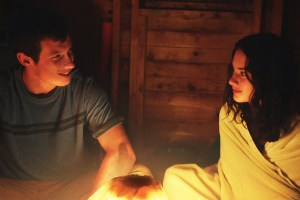 "Callum Turner and Grace Van Patten in ""Tramps"""