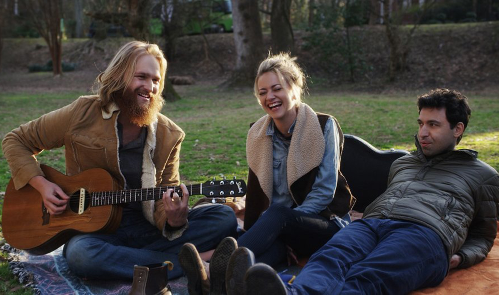 "Wyatt Russell, Alex Karpovsky and Meredith Hagner in ""Folk Hero and Funny Guy"""