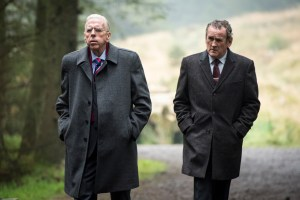 """Colm Meaney and Timothy Spall in """"The Journey"""""""