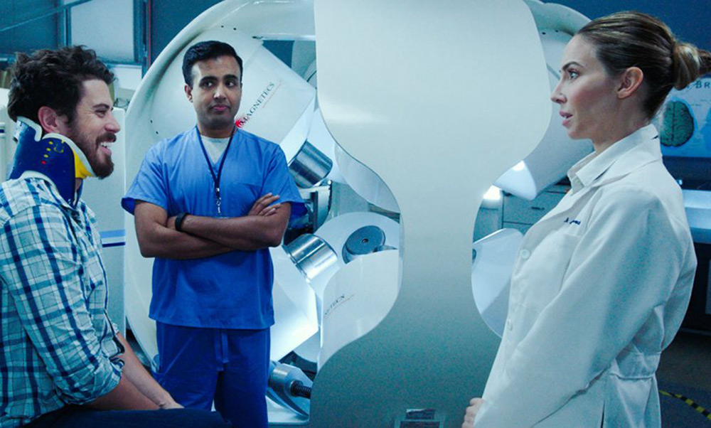 """Toby Kebbell and Whitney Cummings in """"The Female Brain"""""""