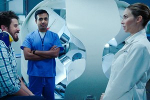 "Toby Kebbell and Whitney Cummings in ""The Female Brain"""