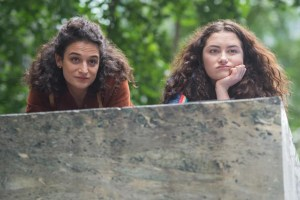 "Jenny Slate and Abby Quinn in ""Landline"""