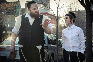 "Ruben Niborski and Menashe Lustig in ""Menashe"""