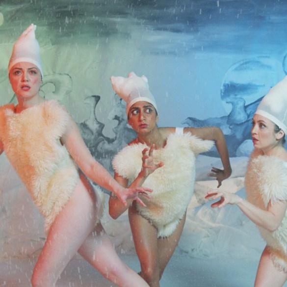 """Eleanore Pienta, Sunita Mani and Tallie Medel in """"Snowy Bing Bongs"""""""