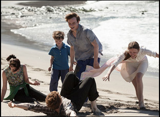 "Mia Goth, Charlie Heaton and Matthew Stagg and George Mackay in ""Marrowbone"""