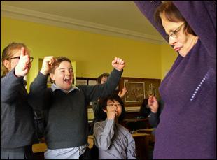 "A scene from David Rane and Neasa Ni Chianain's ""School Life"""