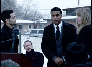 "Cory Hardrict and Paula Devicq in ""Destined"""