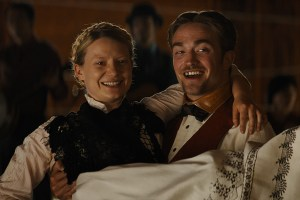 "Mia Wasikowska and Robert Pattinson in ""Damsel"""