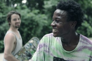 "Keire and Zack in a scene from Bing Liu's ""Minding the Gap"""